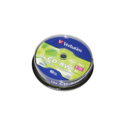 Диск VERBATIM CD-RW 700Mb 12x Cake 10 pcs 43480 (3144600)