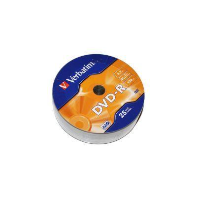 Диск VERBATIM DVD-R 4,7Gb 16x Wrap 25 pcs (6256172)