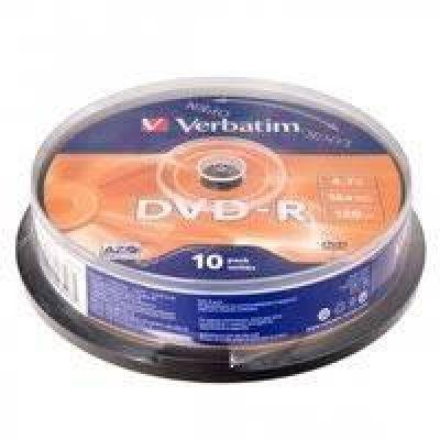 Диск VERBATIM DVD-R 4,7Gb 16x Bulk 10 pcs (5731162)