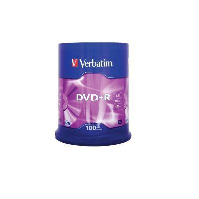Диск VERBATIM DVD+R 4,7Gb 16x Cake 100 pcs (5252111)