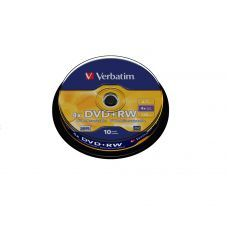 Диск VERBATIM DVD+RW 4,7Gb 4x Cake 10 pcs Silver