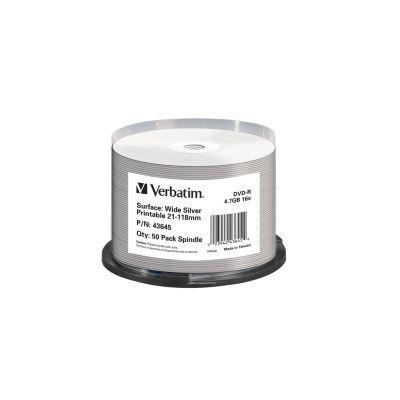 Диск VERBATIM DVD+R 4,7Gb 16x Cake 50 pcs Printable (5220266)
