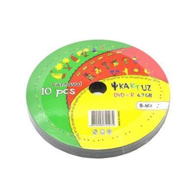 Диск KAKTUZ DVD-R 4,7Gb 8-16x Bulk 10 pcs (5693858)