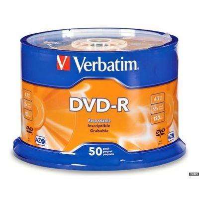 Диск VERBATIM DVD+R 4,7Gb 16x Cake 50 pcs (3205706)