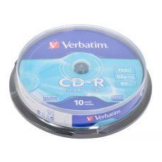 Диск VERBATIM CD-R 700Mb 52x Cake 10 Extra 43437