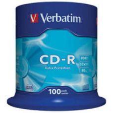Диск VERBATIM CD-R 700Mb 52x Cake 100 pcs Extra 43411