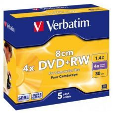 Диск VERBATIM DVD+RW 1,4Gb 4X Jewel 1 Slim
