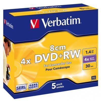 Диск VERBATIM DVD+RW 1,4Gb 4X Jewel 1 Slim (5414516)