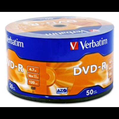 Диск VERBATIM DVD-R 4,7Gb 16x Bulk 50 pcs Lite (5945782)