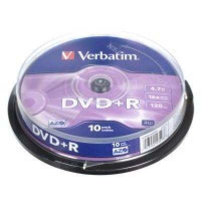Диск VERBATIM DVD+R 4,7Gb 16x Cake 10 pcs (3179259)
