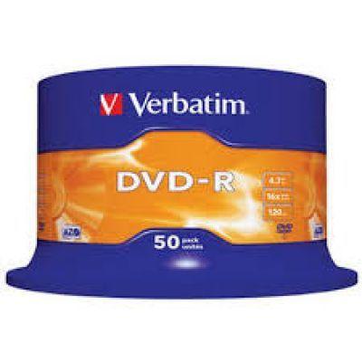 Диск VERBATIM DVD-R 4,7Gb 16x Cake 50 pcs (3205713)