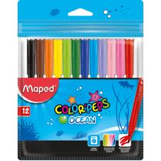 Фломастеры набор COLOR PEPS Ocean 12 цветов