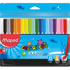 Фломастеры набор COLOR PEPS Ocean 18 цветов