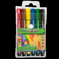 Фломастеры набор 6 цветов JUMBO