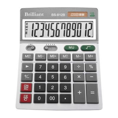 Калькулятор BS-812В 12 разрядов 2-питание (BS-812В)
