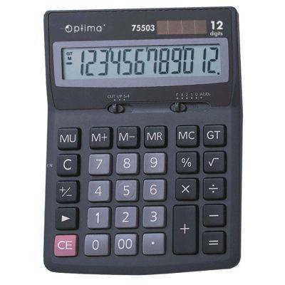 Калькулятор настольный Optima 12 разрядов размер 170*122*32мм (O75503)