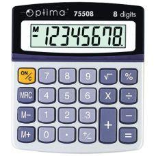 Калькулятор настольный Optima 8 разрядов размер 134*107*34мм