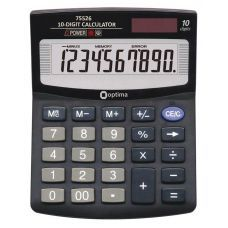 Калькулятор настольный Optima 10 разрядов размер 125*100*27мм