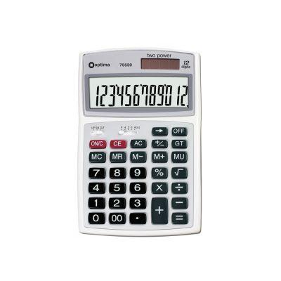 Калькулятор настольный Optima 12 разрядов размер 174*108*27мм (O75521)