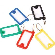 Брелок для ключей пластиковый 45х26мм ассорти