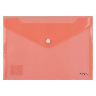 Папка-конверт на кнопке А5 красный (1522-24-A)