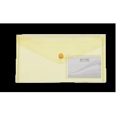 Папка-конверт на кнопке DL (240x130мм) TRAVEL желтый