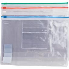 Папка-конверт А5 пластиковаяя на молнии ассорти