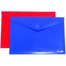 Папка-конверт А4 непрозрачная на липучке фактура диагональ ассорти
