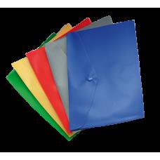 Папка-конверт А5 на кнопке ассорти глянцевая непрозрачная