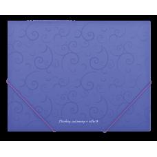 Папка на резинках А5 Barocco фиолетовый