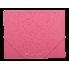 Папка на резинках А5 Barocco розовый