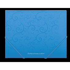 Папка на резинках А5 Barocco голубой
