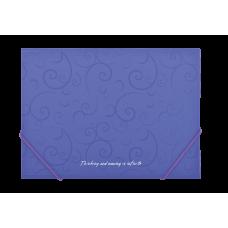 Папка на резинках А4 Barocco фиолетовый
