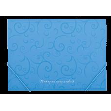 Папка на резинках А4 Barocco голубой