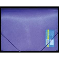 Папка на резинках А4 METALLIC двухслойная фиолетовый
