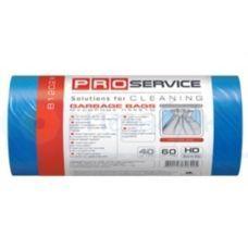 Пакет для мусора п/е 60л/20шт 60*80 синий ХД PRO