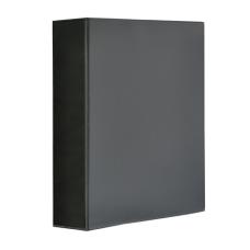 Папка-регистратор Панорама рекламный А4 4D-кольца 70мм PVC черный