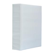 Папка-регистратор Панорама рекламный А4 4D-кольца 70мм PVC белый