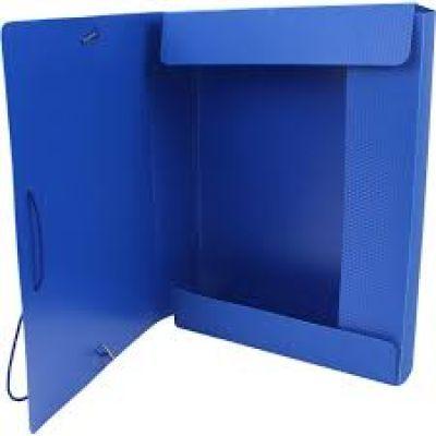 Папка-бокс А4 на гумках Economix 40мм синяя (E31402-02)