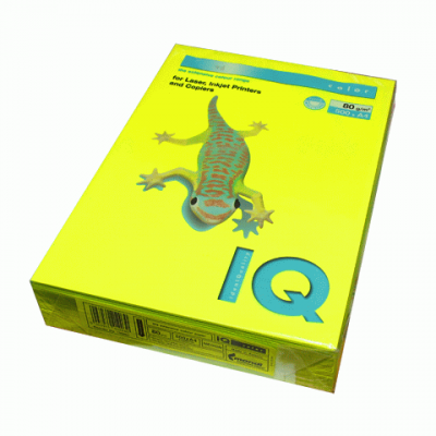 Бумага цветная насыщенный А4 80г/м2 500л. NEOGB желтый (A4.80.IQN.NEOGB.500)