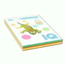 Набор бумаги цветной IQ А4 80г/м2 5 цветов по 50л. 250л. RB01 пастельный