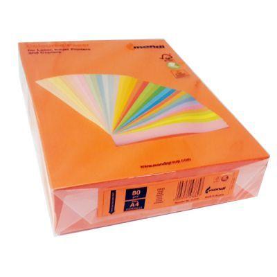 Бумага цветная A4 80г/м2 насыщенный оранжевый 500л. OR43 (АН1163)
