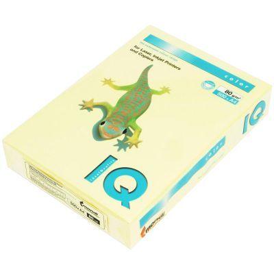 Бумага цветная пастельный А4 80г/м2 500л. YE23 желтый (A4.80.IQP.YE23.500)