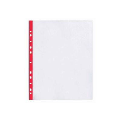 Файлы А4+ Optima 40мкм фактура глянец с красной лентой 100шт. (O35108-03)
