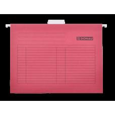 Файл подвесной А4 картон красный