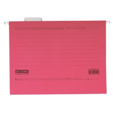 Файл подвесной А4 с индексами картон розовый