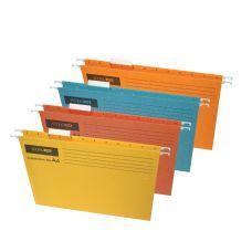 Файл подвесной А4 Economix картон желтый