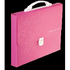 Портфель A4 35мм пластиковый A4 35мм BAROCCO розовый