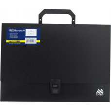 Портфель A4 35мм пластиковый A4 35мм черный
