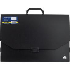 Портфель A4 35мм пластиковый A3 32мм PROFESSIONAL черный